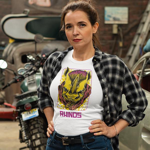 maglietta rhinos donna