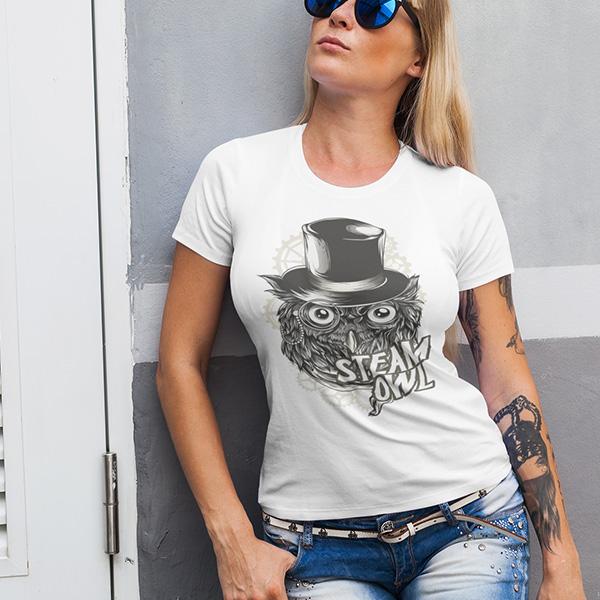 maglietta steam owl donna
