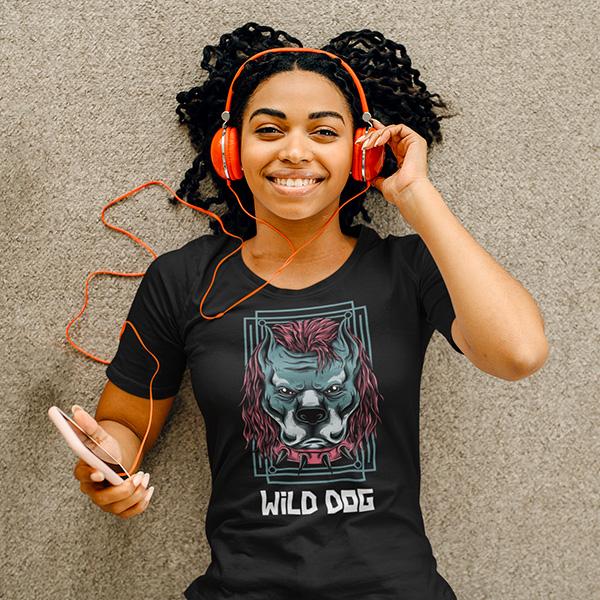 maglietta wild dog donna