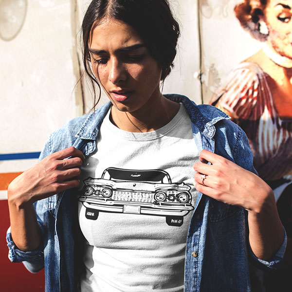 cadillac t-shirt woman