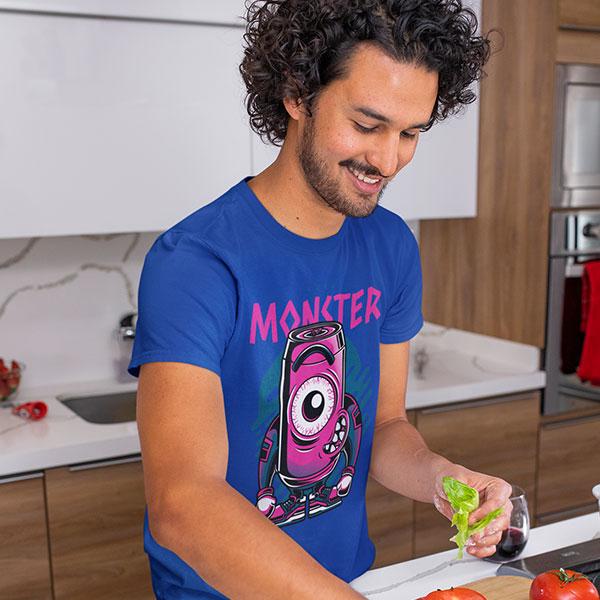 cute monster t-shirt man