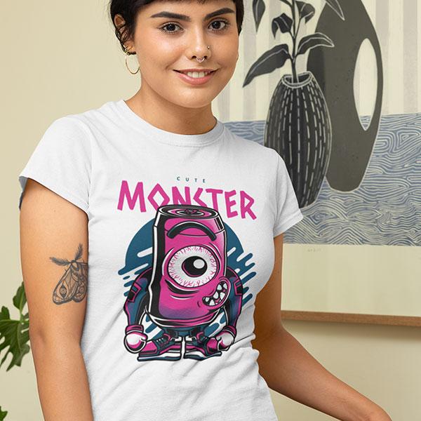 cute monster t-shirt woman