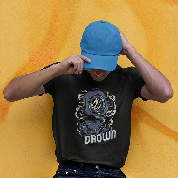 drown t-shirt man