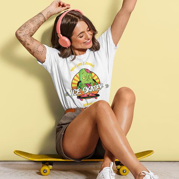 ice skater t-shirt woman