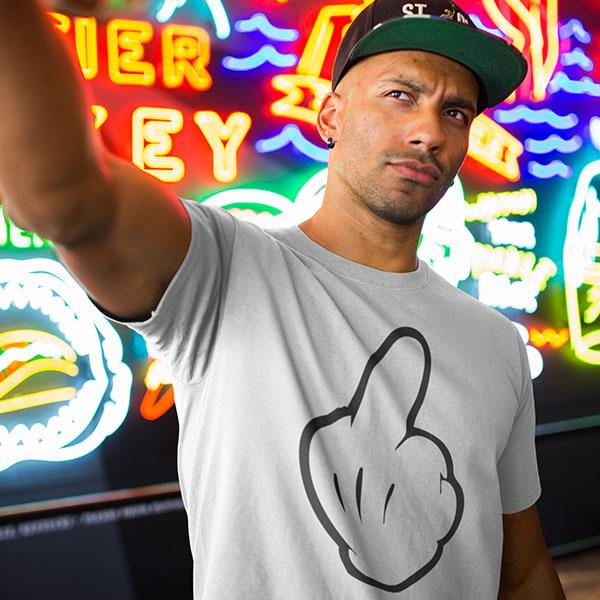mickey fuck off man t-shirt