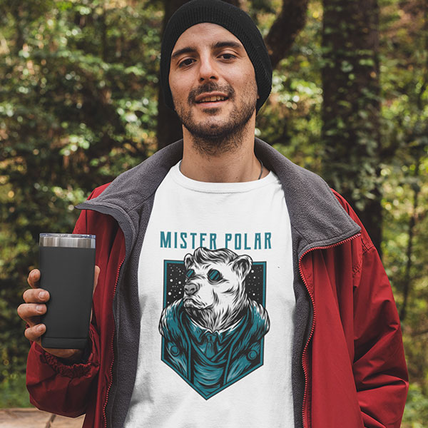 mister polar t-shirt man
