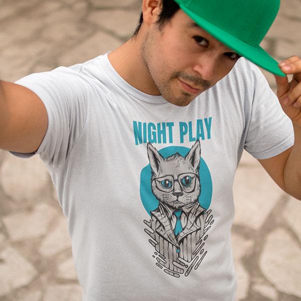 night play t-shirt man