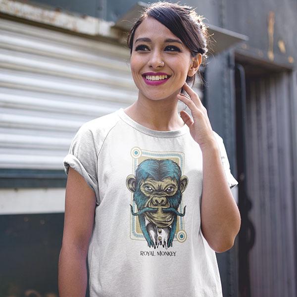 royal monkey t-shirt woman