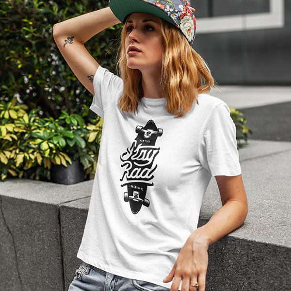 stay road t-shirt woman