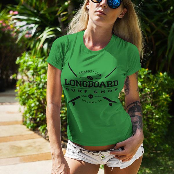 surf shop t-shirt woman