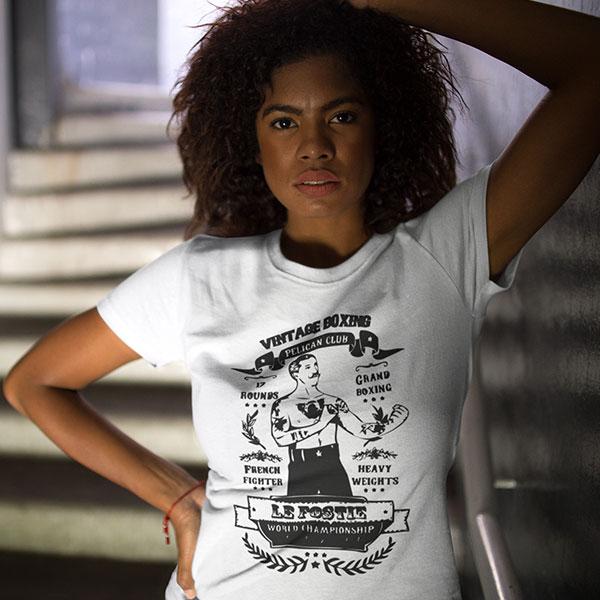 vintage boxe t-shirt woman