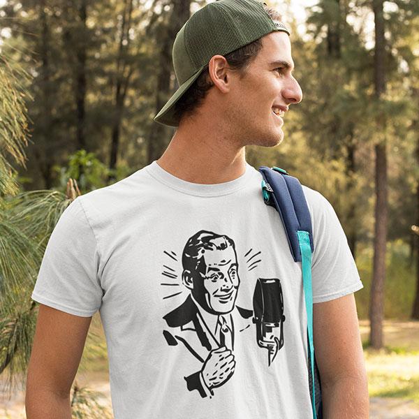 vintage speaker man t-shirt