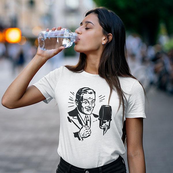 vintage speaker t-shirt woman