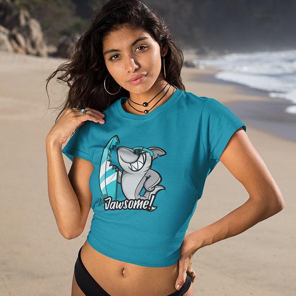 jawsome t-shirt woman