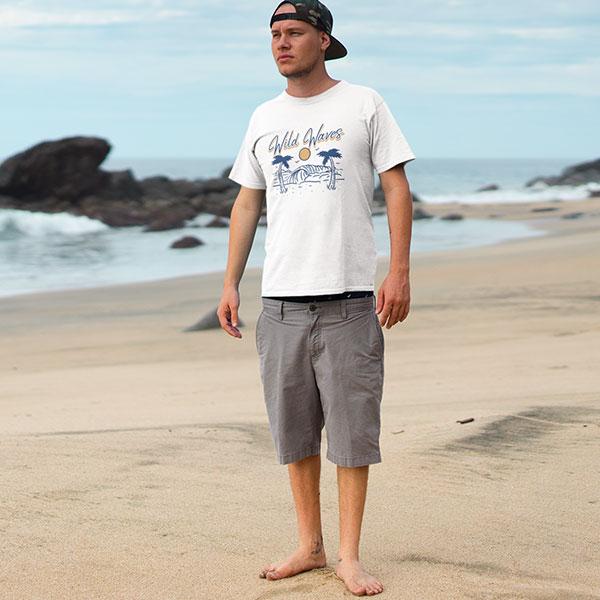 wild waves t-shirt man
