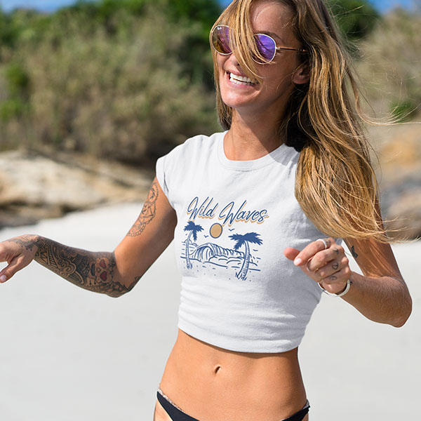 wild waves t-shirt woman