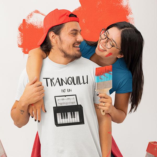 tranquilli ho un piano t-shirt